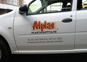 Vehicle Signage - Alplas